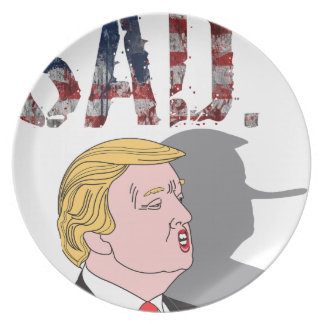 Prato Anti presidente sarcástico engraçado Donald Trump