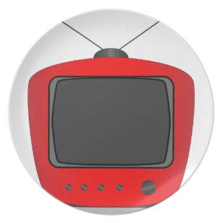 Prato Aparelho de televisão velho