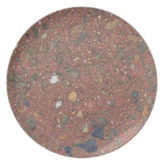 Prato Areia e placa dos seixos