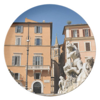 Prato Arquitetura italiana na praça Navona, Roma, Italia
