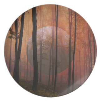 Prato Arte surreal da paisagem do planeta da floresta