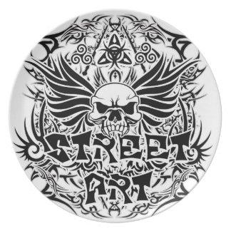 Prato Arte tribal da rua do tatuagem