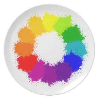 Prato Artista da roda de cor e professor de arte
