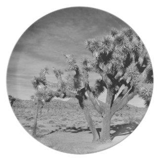 Prato Árvore de Joshua (preto & branco)