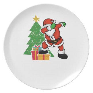 Prato Árvore de Natal da solha de Papai Noel