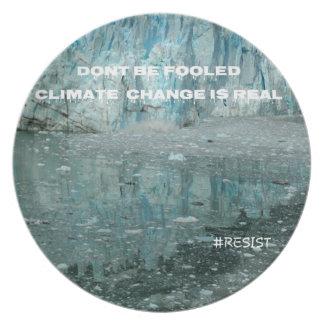 Prato As alterações climáticas são geleira de