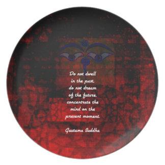 Prato As citações Uplifting de Buddha não residem no