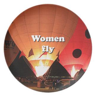 Prato As mulheres voam: balão de ar quente 2