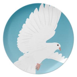 Prato Asa do animal da natureza da pena de pássaros do