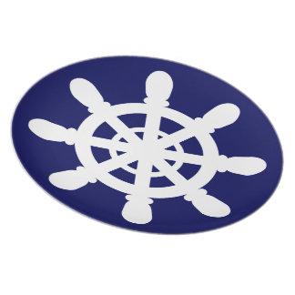 Prato Azul da placa da melamina da roda do marinheiro