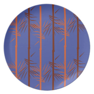Prato Azul de bambu do design