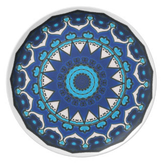 Prato Azulejo ÁRABE Iznik do vintage, Turquia, século