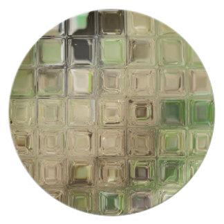 Prato Azulejos do vidro verde
