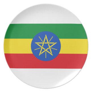 Prato Baixo custo! Bandeira de Etiópia
