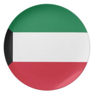 Prato Baixo custo! Bandeira de Kuwait