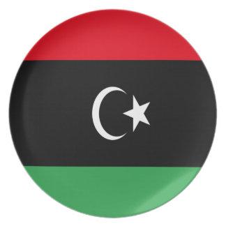 Prato Baixo custo! Bandeira de Líbia