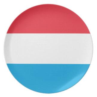 Prato Baixo custo! Luxembourg embandeira