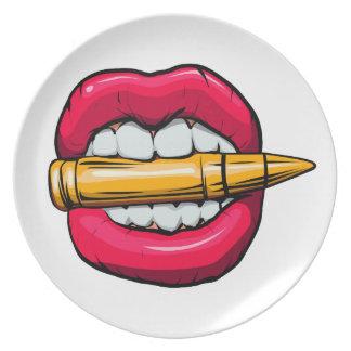 Prato bala na boca