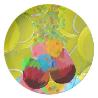 Prato Balões dos vidros das bolas