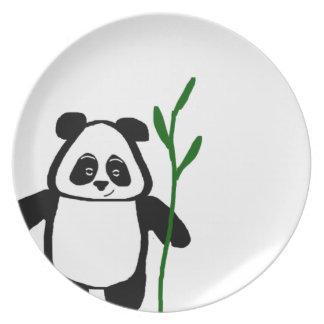 Prato Bambu a placa da panda