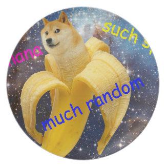 Prato banana   - doge - shibe - espaço - uau doge