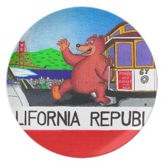 Prato Bandeira 2 do urso de San Francisco Califórnia