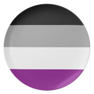 Prato Bandeira assexuada do orgulho