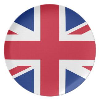 """Prato Bandeira BRITÂNICA """"Union Jack """" de Reino Unido da"""