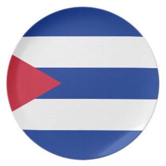 Prato Bandeira cubana - bandera Cubana - bandeira de