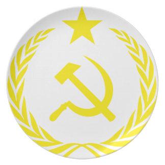 Prato Bandeira da guerra fria de Communiste