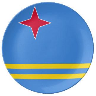 Prato Bandeira de Aruba