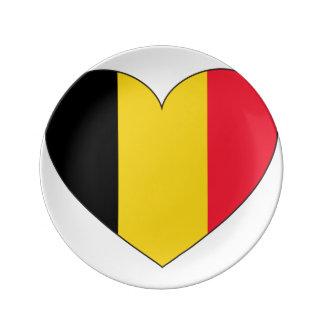 Prato Bandeira de Bélgica simples