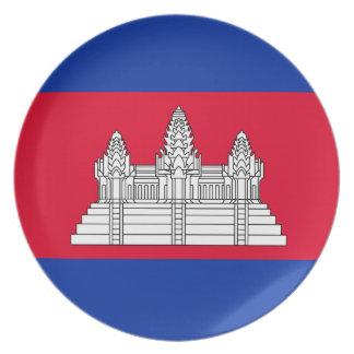 Prato Bandeira de Cambodia