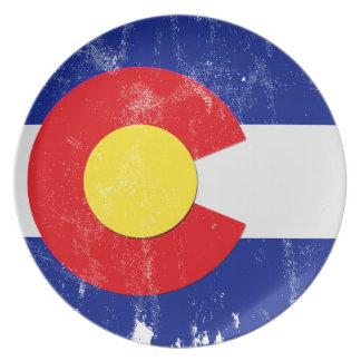 Prato Bandeira de Colorado afligida