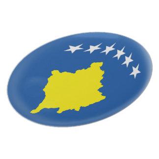 Prato Bandeira de Kosovo Kosovan