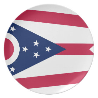 Prato Bandeira de Ohio