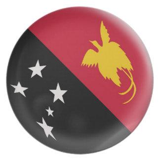 Prato Bandeira de Papuá-Nova Guiné