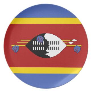 Prato Bandeira de Suazilândia
