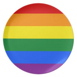 Prato Bandeira do arco-íris