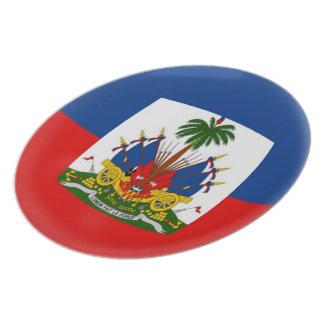 Prato Bandeira do Haitian de Haiti
