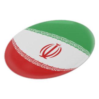 Prato Bandeira do iraniano de Irã