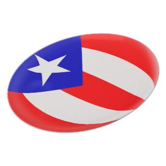 Prato Bandeira do porto-riquenho de Puerto Rico