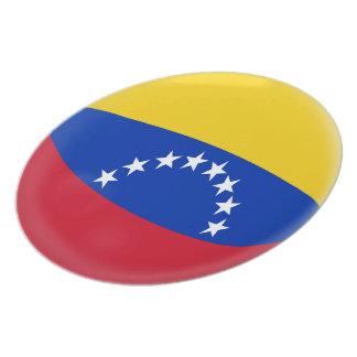 Prato Bandeira do venezuelano de Venezuela