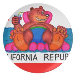 Prato Bandeira dos pés do urso de Califórnia