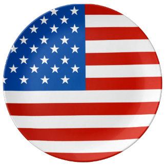 Prato Bandeira nacional de Estados Unidos