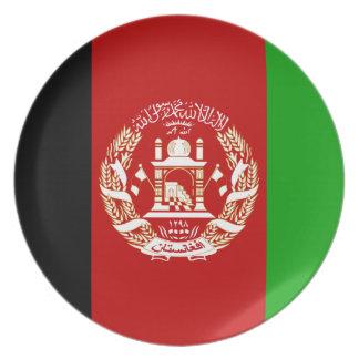 Prato Bandeira nacional do mundo de Afeganistão