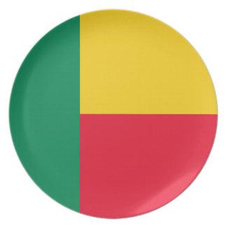 Prato Bandeira nacional do mundo de Benin