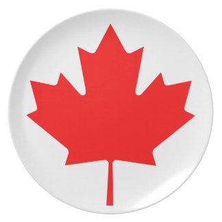 Prato Bandeira nacional do mundo de Canadá