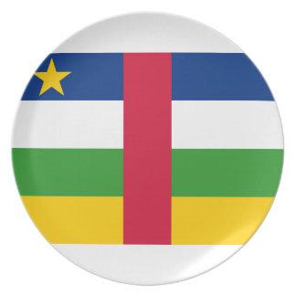 Prato Bandeira nacional do mundo de Central African