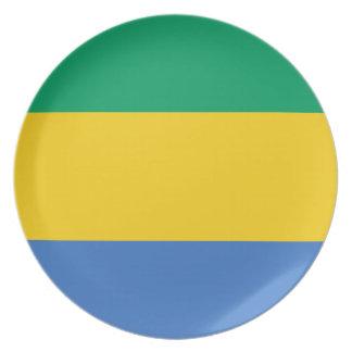 Prato Bandeira nacional do mundo de Gabon